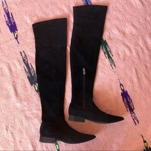 Sigerson Morrison Black Suede OTK Boots